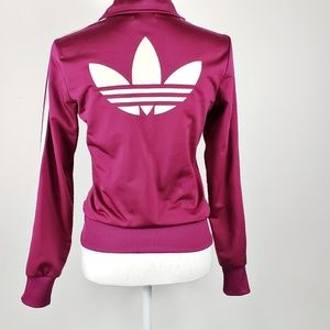 Adidas Trefoil Track Jacket Magenta From Europe